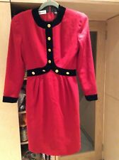 Stunning red woolen dress & black velvet by Albert Nikon /Isabell Gerkart S 8-10