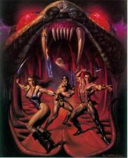 Boris Vallejo postercard: swords and serpents (estados unidos, 1992)