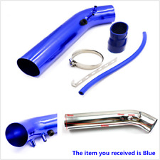 """3"""" Blue Universal Cold Air Intake System Aluminum Pipe Kit+ Silicone Vacuum Hose"""