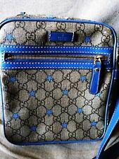 Gucci Supreme Stars GG Canvas Blue Messenger Bag