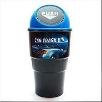 CAR MULTIFUNCTION TRASH CAN TRASH BIN CUP HOLDER GARBAGE CAN CUP BLACK BLUE