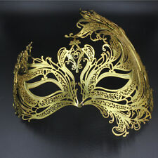 Womens Luxury Laser Diamante Venetian Metal Mask Masquerade Halloween Party Gift