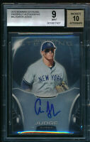 BGS 9 AUTO 10 AARON JUDGE 2013 Bowman Sterling Prospect Autograph Rookie RC MINT