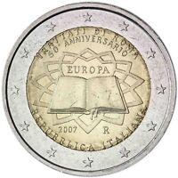 Italien 2 Euro 2007 Gedenkmünze 50 Jahre Römische Verträge prägefrisch