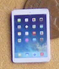 1:12th Blanco no trabajo Casa De Muñecas Accesorio de Oficina Android Tablet Apple Ipad