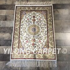 YILONG 2'x3' Handknotted Silk Rug Traditional Home Interior Carpet ZW267C