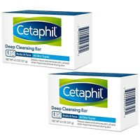 (2) Packs Cetaphil Deep Cleansing Face & Body Bar for All Skin Types