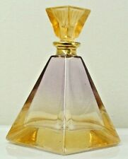 Vintage Italian Hand Painted Decorative Perfume Bottle w/ Stopper - Collectible