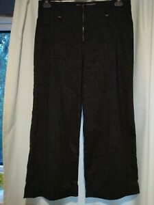 TRANSIT PAR SUCH grey cotton & wool blend pinstriped cropped trousers size 2