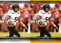 "PAT MAHOMES II 2017 LEAF DRAFT GOLD ""2"" CARD ROOKIE LOT! KC CHIEFS #1 PICK!"