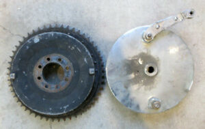 GENUINE HARLEY DAVIDSON 1954-78 SPORTSTER/ K-MODEL REAR BRAKE DRUM/BACKING PLATE