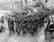 WWII B&W Photo German POW's US 9th Army 1945 WW2 World War Two Wehrmacht  / 2300