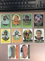 10x 1958 Topps Football Card Lot VG Rams Cardinals Lou Groza , Zucco