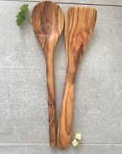 Olivenholz Kochbesteck Set 2-tlg. / Pfannenwender und Kochlöffel Handarbeit 30cm
