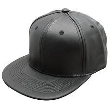 NUOVO HATER CAPPELLINO * Nero * Plain Baseball Hip Hop MONTATO SWAG Piatto Picco Cappello