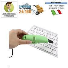 MINI ASPIRAPOLVERE USB TASTIERE PER PULIZIA COMPUTER ASPIRA POLVERE PORTATILE PC