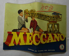 Meccano n° 3 manuel d'instruction 1954
