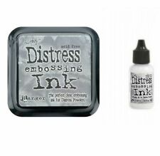 New TIM HOLTZ Clear EMBOSSING Distress Stamp INK Pad & Re-Inker REFILL