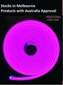 5mtr DC 12V LED Purple Neon Flex Rope Strip Light Signage Outdoor 8x16mm 25mmCut