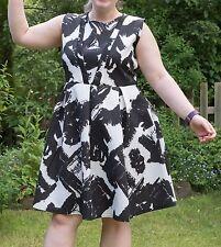 New Praslin Black and White Skater Dress. Plus Size 18