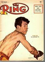 1955 (May) The Ring Boxing magazine, Frankie Ryff, Lightweight Title ~ Good