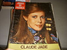 JOURS de FRANCE 0947 02.1973 CLAUDE JADE ROGER VADIM DANI