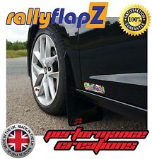 rallyflapZ SEAT LEON Mk3 3rd Gen (2012 Guardabarros Negro FR Logo 3mm PVC