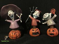 Disney Grand Jester Nightmare Before Christmas Lock, Shock & Barrel in pumpkins