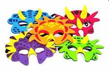 10 X Dinosaur Kids Fancy Dress  Felt Face Mask Animal Masks Party Bag Filler