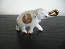 Limoge Miniature Porcelain Elephant Figurine