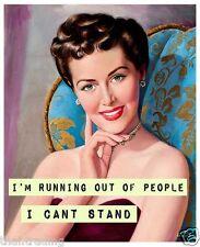 "Vintage Retro Funny Woman Quote Photo Fridge Magnet 2""x 3"" Collectibles"