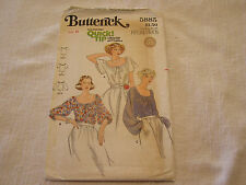 Vintage 1970's Butterick 5885 Sewing Pattern Peasant Top Blouse Women's Size 8