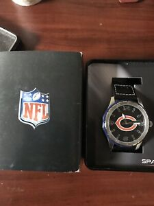 Chicago Bears Mens Sparo Wrist Watch Black Wrist Band Brand New $60 MSRP