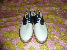 Mr B's Men's Herrera Aldo Two Tone Blue & White Leather Wing Tip Shoes Us Size 9