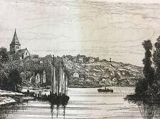 Daon Mayenne Château-Gontier 1872 A. Tancrède estampe Pays de Loire