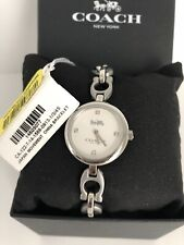 Coach 14503077 Signature Chain Link Silver  Stainless Steel Women's Watch $250