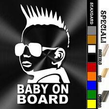 adesivo sticker Punk BABY ON BOARD bimbo bebè a bordo decal personalizzabile