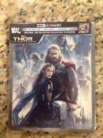 THOR The Dark World  4K (4K ULTRA HD+Blu-Ray+Digital,Limited Ed,Steelbook)NEW