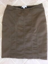 WOMENS, COUNTRY ROAD, STRAIGHT COTTON BLEND SKIRT, SIZE 8, BROWN, #594