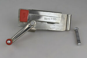 Vintage Swing-A-Way Wall Mount Can Opener with Red Handle Accents NO WALL MOUNT