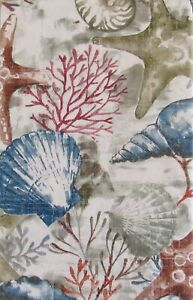 Seashells/Turtle/Seahorse/Starfish/Coral Themed Vinyl Tablecloths-Var Size/Style