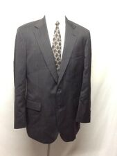 Brooks Brothers Suit Jacket Black Wool Pinstripe Two Button Blazer Size       K8
