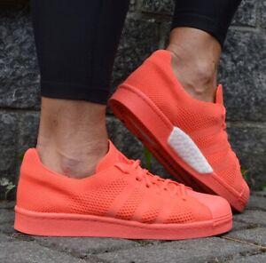 Adidas Superstar Boost ™ Energy Pk Baskets Hommes Été Maille Orange/Rouge