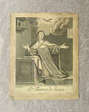 Eau-forte, Sainte Thérèse, XVIIème, Gissey d'après Le Brun