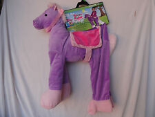 Toddlers Plush Ride in/Ride on Horse Costume Size 2T Girls purple Pony