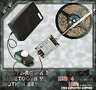 Tactical RGB Gun Safe Light flex cuttable LED Strip w/ Bluetooth & Motion Sensor