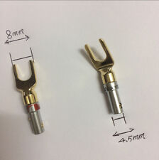 20 Pcs Gold Plated connector Speaker Banana Spade Plug Screw Type