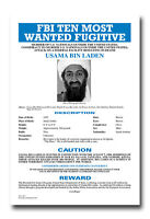 Usama Bin Laden Most Wanted FBI Poster Design 8x12 Inch Aluminum Sign