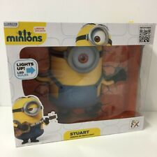 "Minions Stuart 3D Deco Wall Light Up 10.5"" Despicable Me NEW SEALED in the Box"