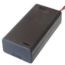 2 x AA batteria titolare scatola chiusa con interruttore
